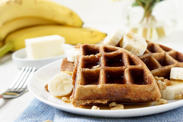 Whole Wheat Banana Nut Bread Waffles Sugar Amp Soul