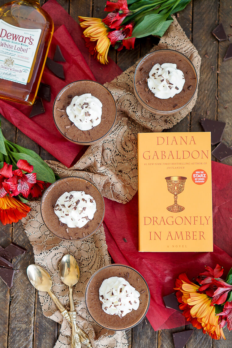 These Scotch and Chocolate Pots de Creme are a rich and creamy French dessert with a touch of Scotland inspired by the Outlander Series!