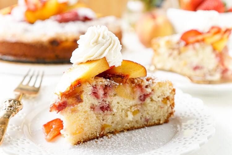 Coffee Cake Recipe King Arthur: Strawberry & Peach Coffee Cake