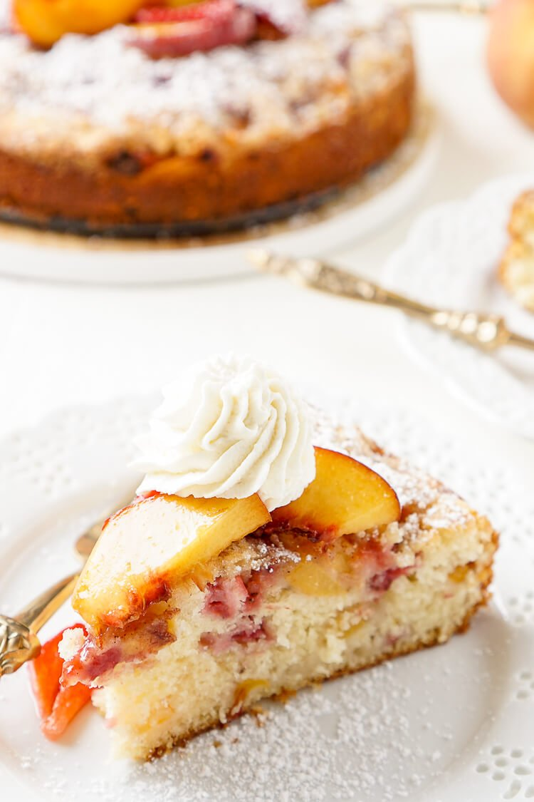 Peach Streusel Coffee Cake Recipe