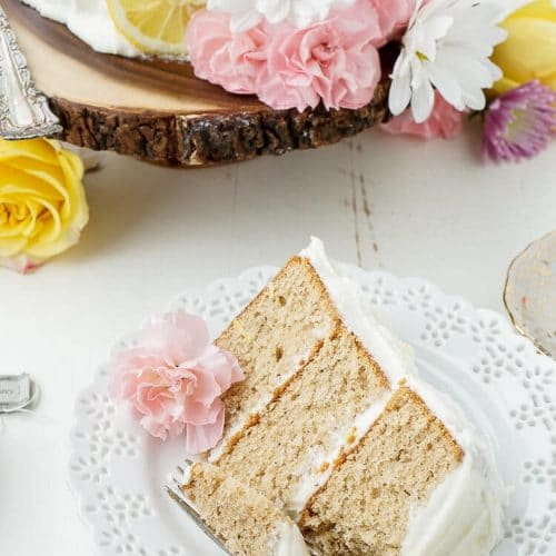 Earl Grey Cake with Lemon Buttercream