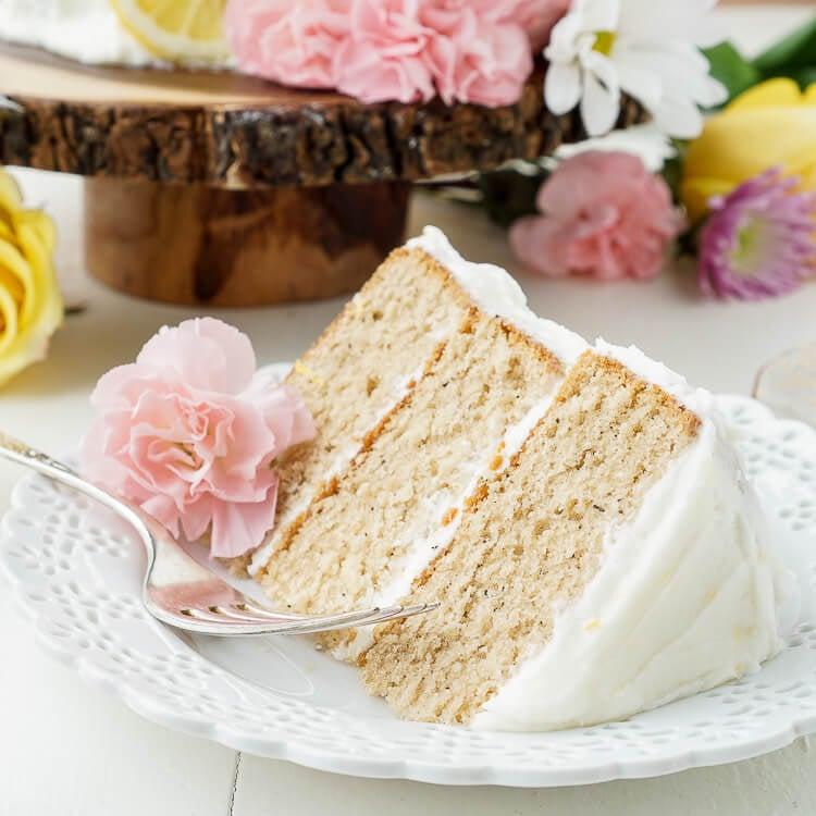 Earl Grey Cake With Lemon Buttercream