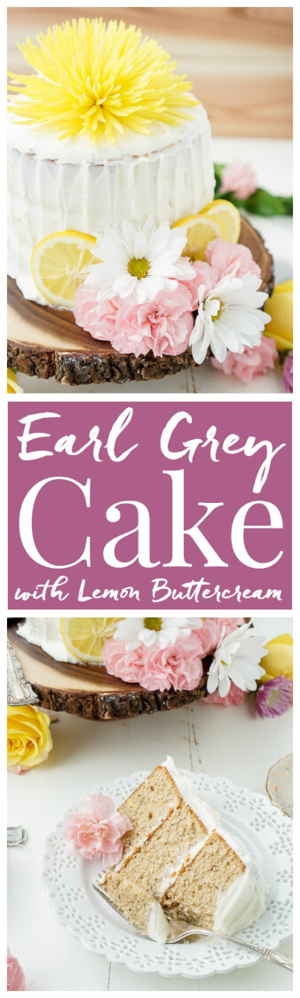 This Earl Grey Cake with Lemon Buttercream is the perfect afternoon dessert for tea lovers inspired by Alice Through the Looking Glass. via @sugarandsoulco