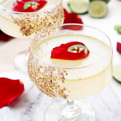 This Spicy Jalapeno Margarita Recipeis the Patrón Margarita of the Year! Expertly crafted, artfully presented, and it tastes as smooth as it looks!