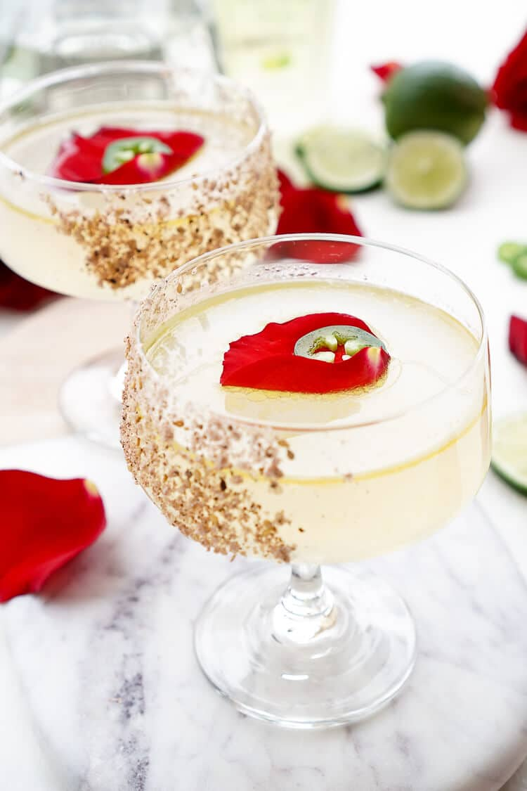 This Spicy Jalapeno Margarita Recipe is the Patrón Margarita of the Year! Expertly crafted, artfully presented, and it tastes as smooth as it looks!