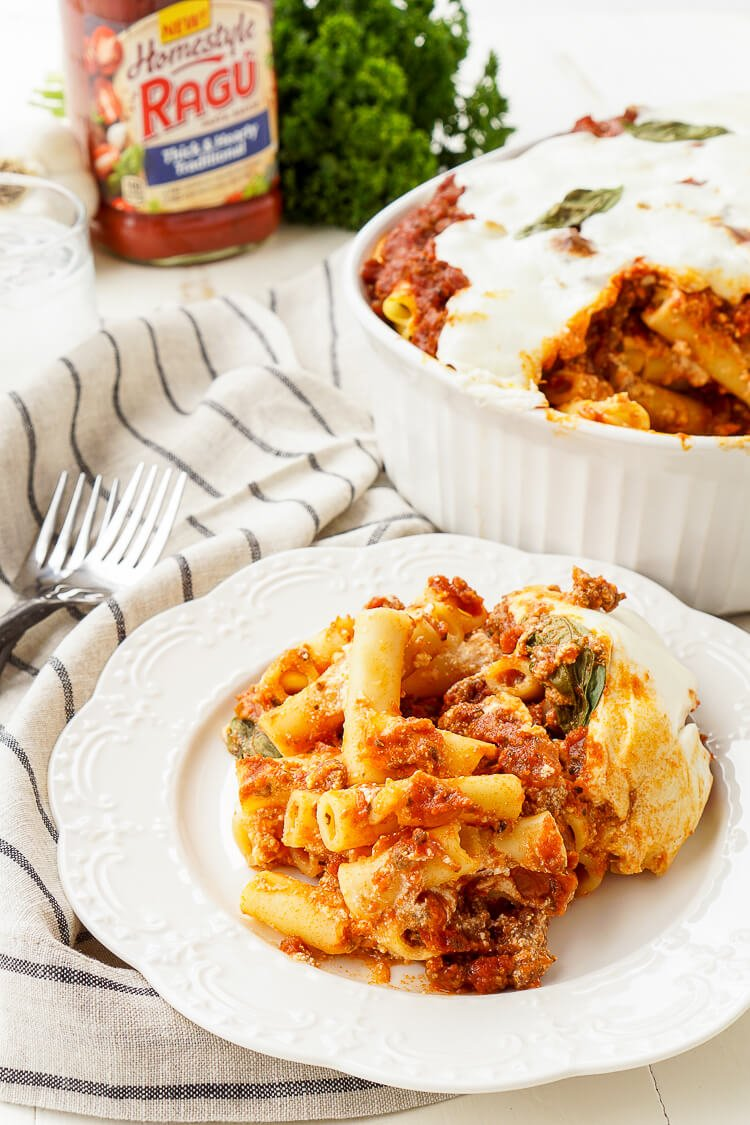Baked Ziti Recipe is a classic homestyle dish.
