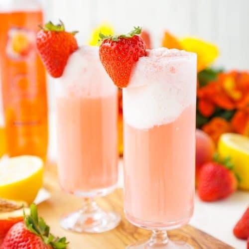 Strawberry Lemonade Floats