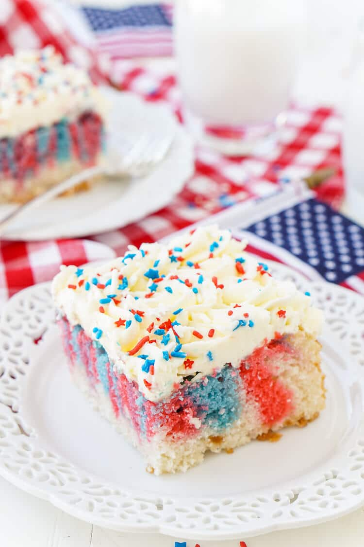 Red White And Blue Marble Sheet Cake Sugar Amp Soul