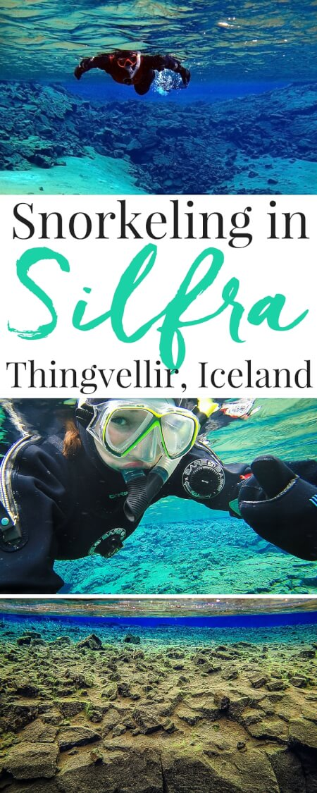Planning a trip to Iceland? Make sure Snorkeling Between Continents in Silfra is on your list! It's a crazy-amazing experience you won't forget! via @sugarandsoulco