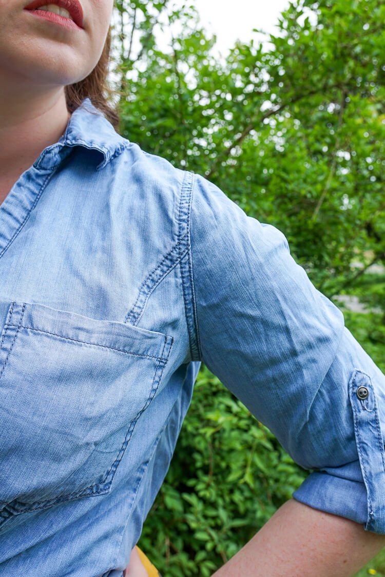 Stitch Fix June 2016 Review: Skies are Blue - Bowes Button Down Top