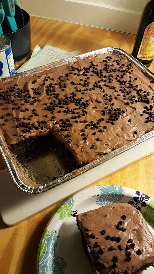 Kahlua Poke Cake Recipe