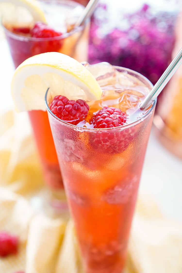 Homemade raspberry iced tea recipe sugar soul for Easy fruit tea recipe