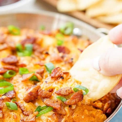 Cheesy Bacon BBQ Chicken Dip