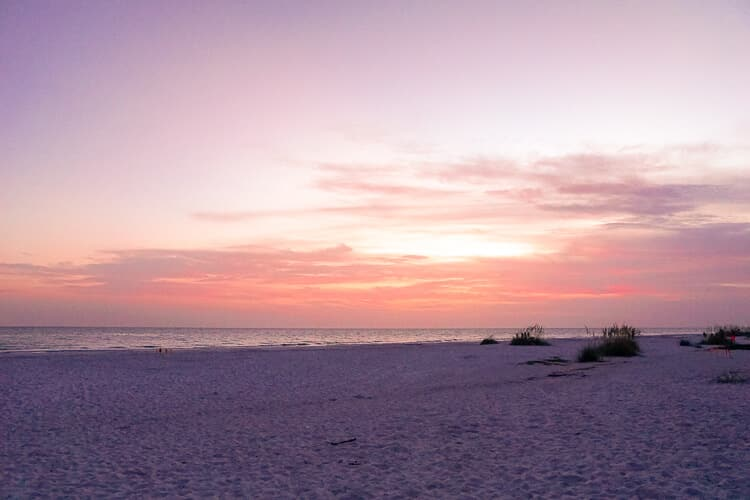 Beach at Sunset on Anna Maria Island