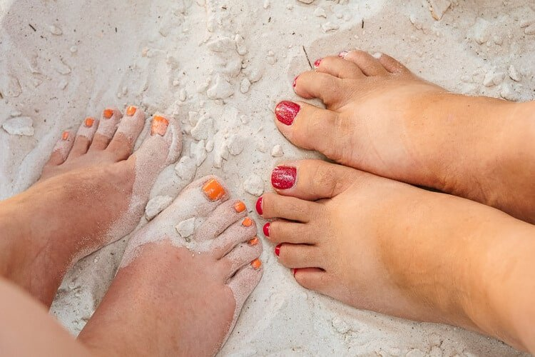 Toes in the Sand in Anna Maria Island