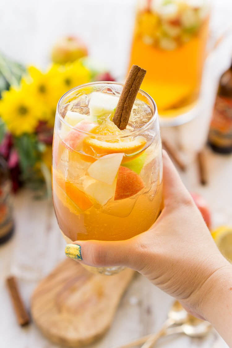 Make this Hard Apple Cider Sangria for fall parties!