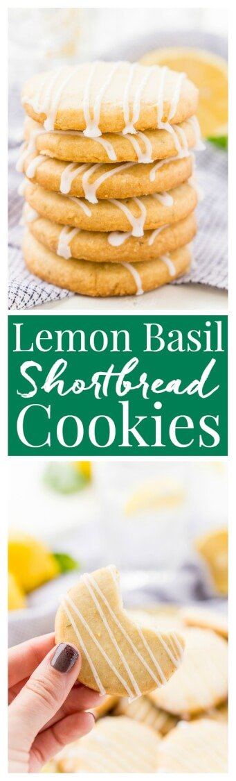 These Lemon Basil Shortbread Cookies will melt in your mouth, they're rich, sweet, and flaky. Made with butter, confectioners' sugar, flour, lemon zest, basil, and salt, they're perfect for tea, parties, or snacking! via @sugarandsoulco