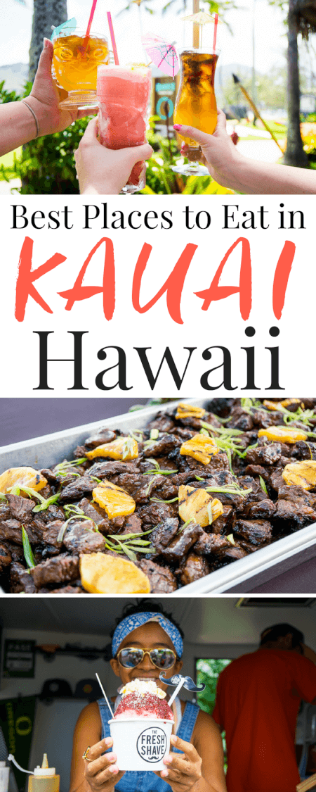 Planning a trip to Kauai, Hawaii? These are the 10 Best Places to Eat In Kauai, don't miss them! via @sugarandsoulco