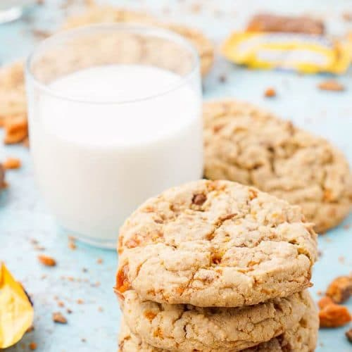 Butterfinger Pudding Cookies