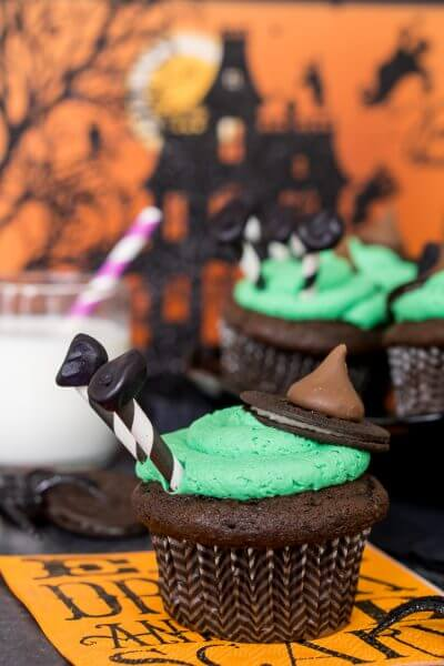 Melted Witch Cupcakes