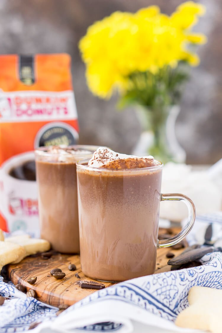 This Hot Chocolate Coffee is an indulgent blend of thick and creamy hot chocolate and bold hot dark roast coffee. The perfect brunch or dessert beverage for the holidays!
