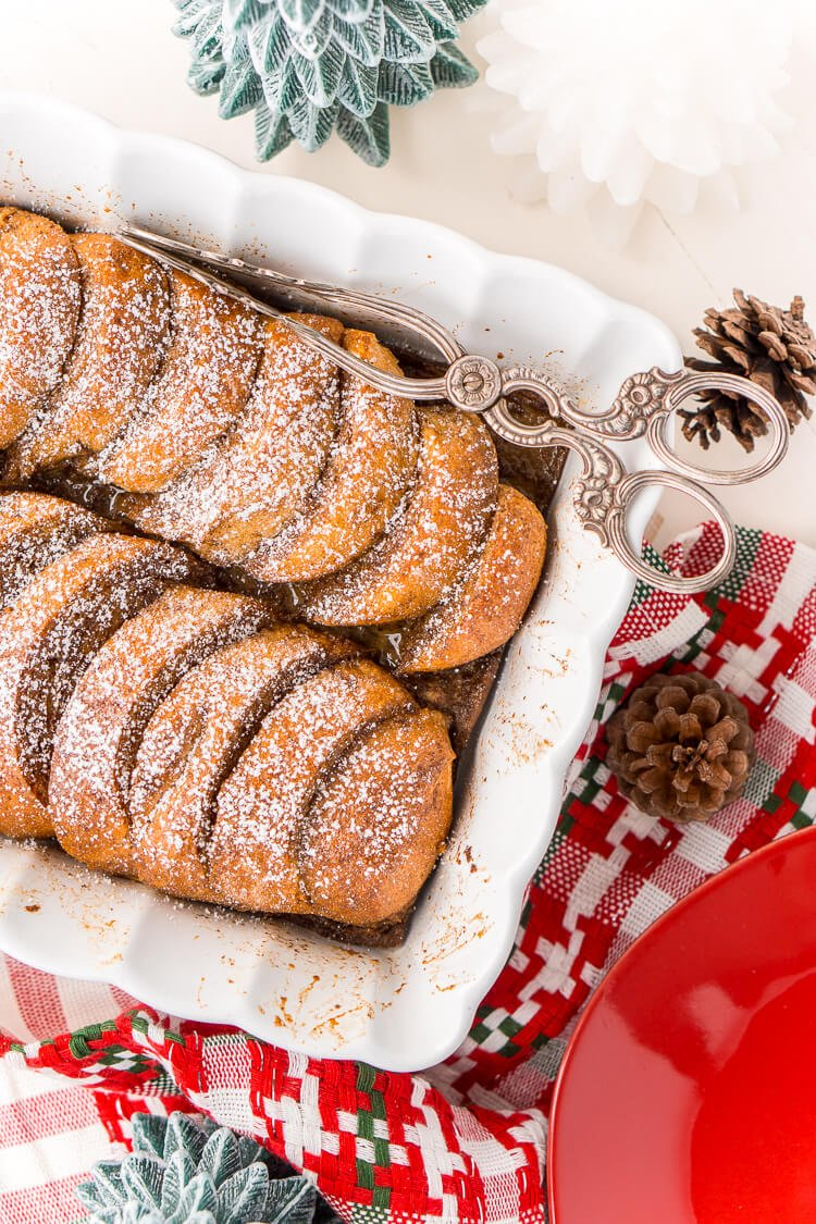 This Gingerbread French Toast Bake Casserole is the perfect way to kick off a snowy holiday morning, or any morning for that matter! It's easy to make and bursting with the sweet and spicy flavors of gingerbread and you can prep it the night before if you'd like!