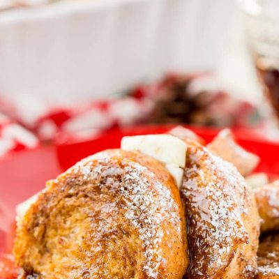 Gingerbread French Toast Bake Casserole