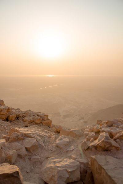 Hiking Masada at Sunrise in Israel