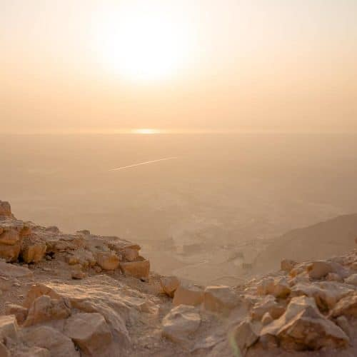 Hiking Masada at Sunrise in Israel