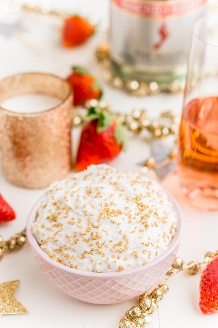 3-Ingredient Champagne Cake Dip