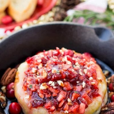 Apple Cranberry Baked Brie