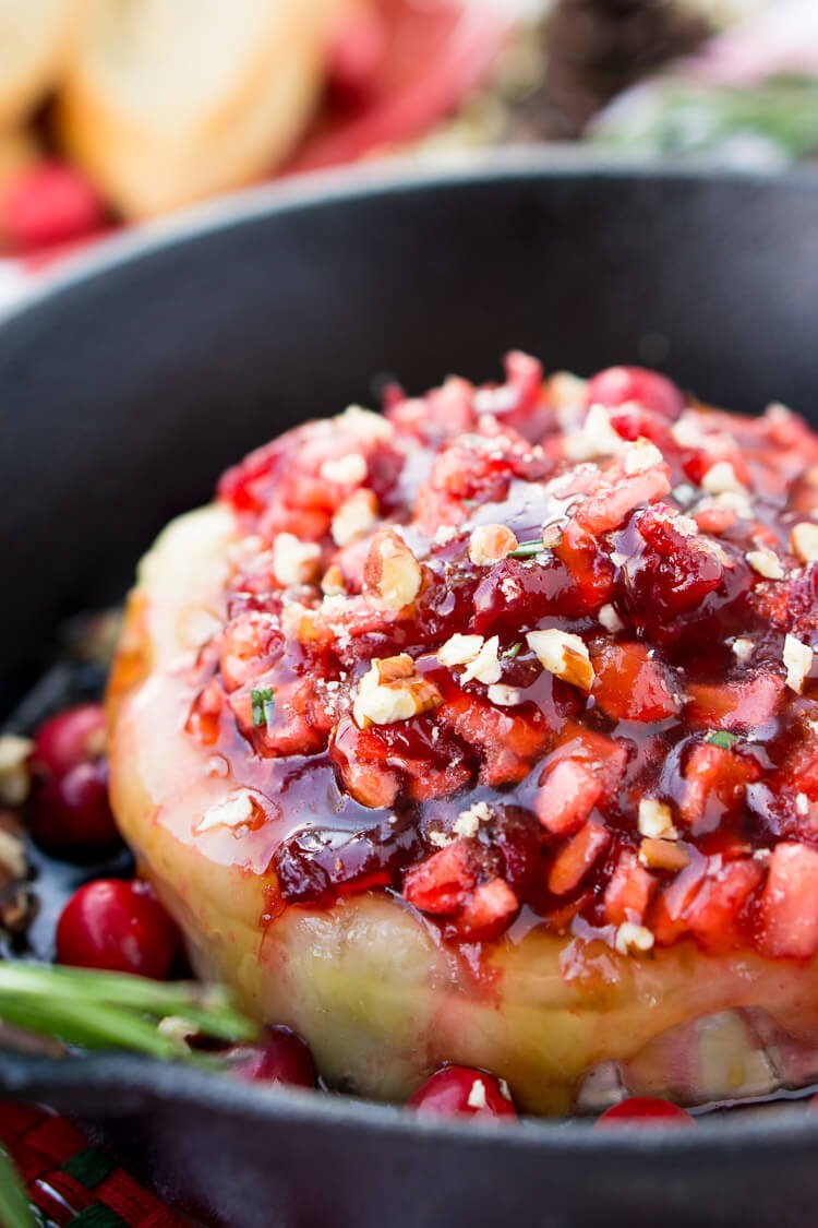 apple cranberry baked brie recipe  sugar and soul