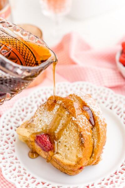 Champagne Raspberry Baked French Toast