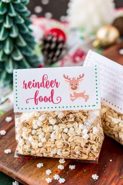 Magic Reindeer Food Recipe & Printable Labels
