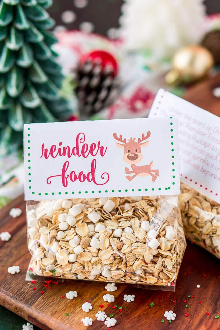 graphic about Reindeer Food Labels Printable named Magic Reindeer Meals Recipe and Poem Sugar and Soul