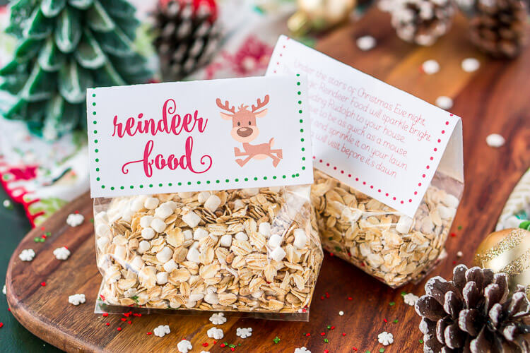 picture regarding Reindeer Food Labels Printable referred to as Magic Reindeer Meals Recipe and Poem Sugar and Soul