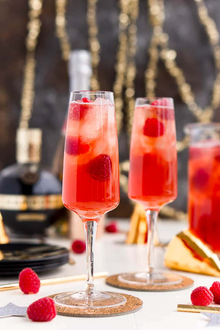 New Year's Eve Champagne Punch is loaded with Triple Sec, blackberry ...