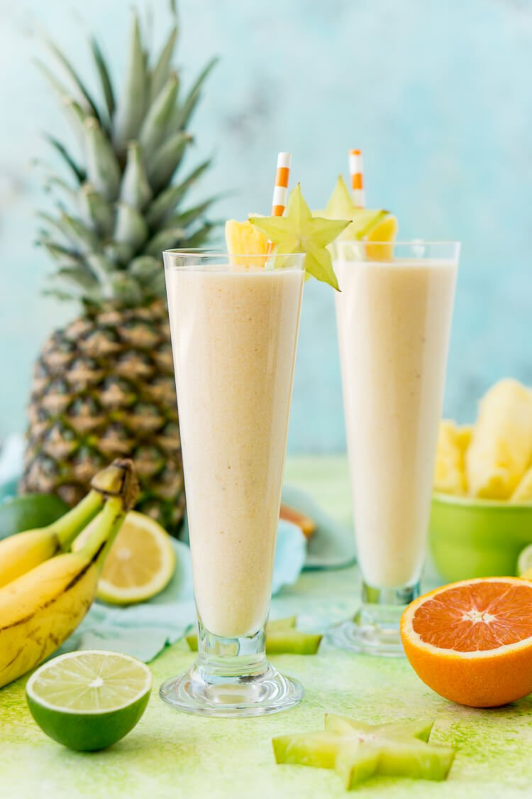 Tropical Smoothie - a healthy breakfast or snack recipe