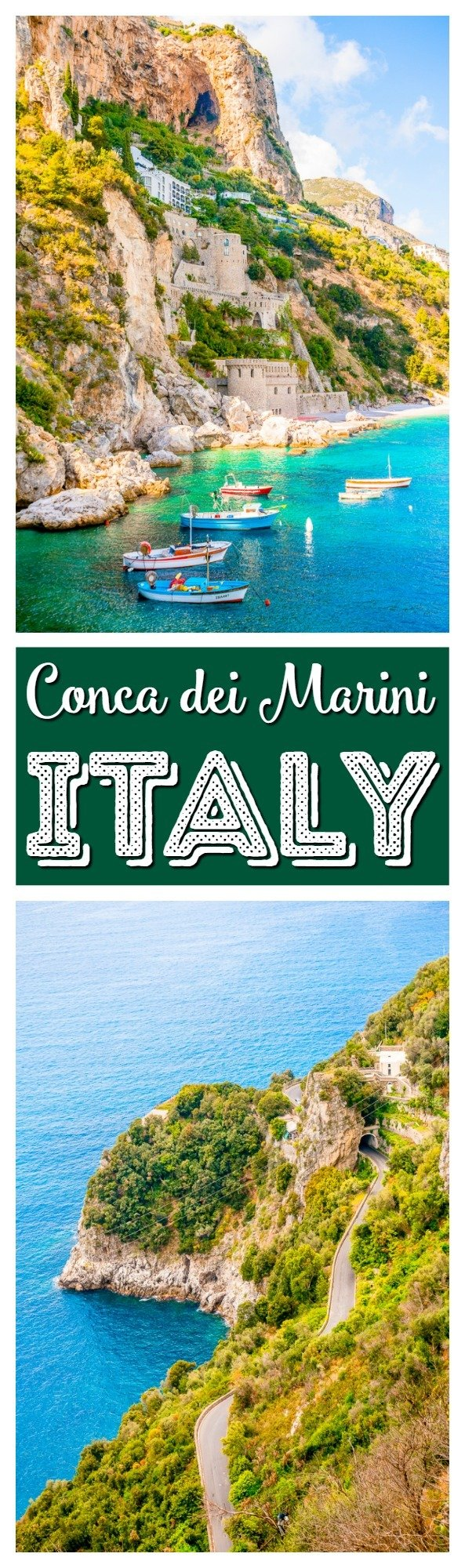 Conca dei Marini is a small village along the Amalfi Coast in Italy and it's the perfect place to escape the crowds and experience the beauty this region has to offer. via @sugarandsoulco