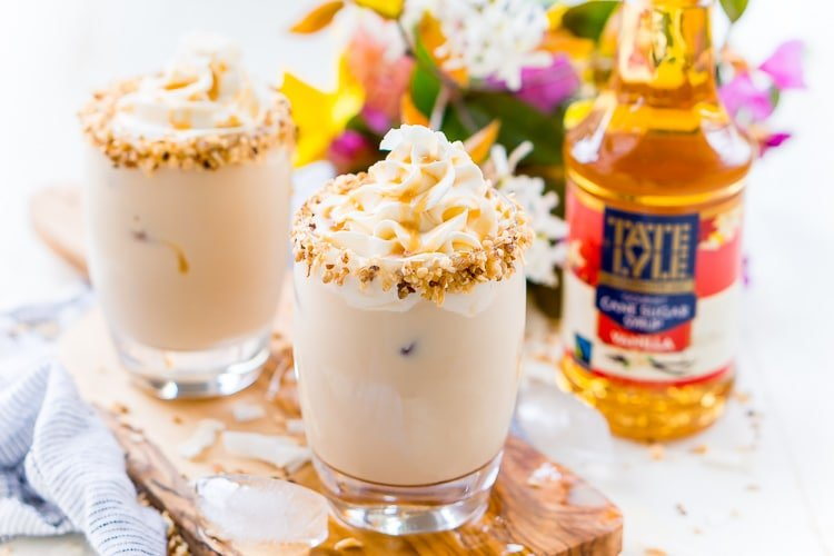 This German Chocolate Cocktail is a sweet dessert drink that's loaded with coconut, vanilla, chocolate, and caramel flavors! It can be made non-alcoholic too!