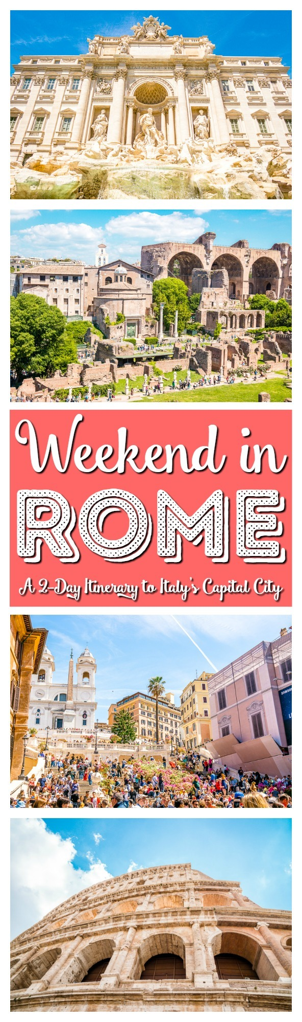 Planning a weekend trip to Rome? Here's the perfect two-day itinerary in the capital of Italy! Everything you should see, do, and eat! via @sugarandsoulco