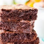 These classic Fudge Brownies are loaded with rich, deep, chocolate flavor and have a crisp top and fudgy center and are sure to be loved by everyone!