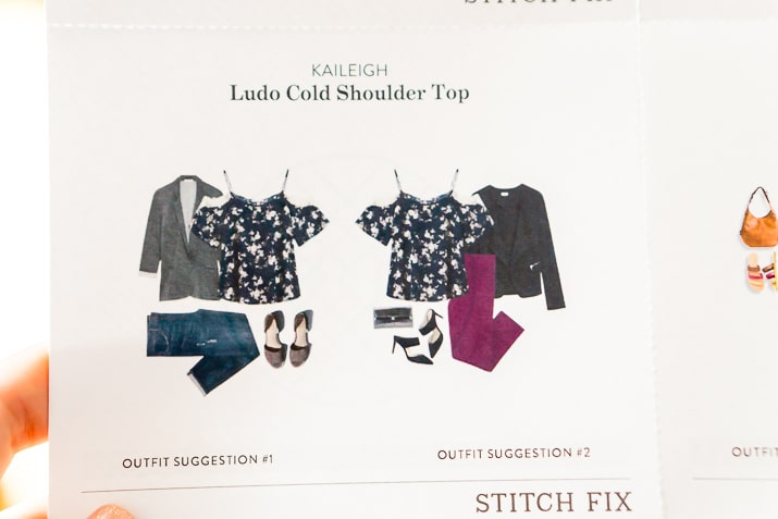 Stitch Fix Review June 2017 - Kaileigh Ludo Cold Shoulder Top
