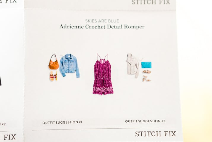 Stitch Fix Review June 2017 - Skies are Blue Adrienne Crochet Detail Romper
