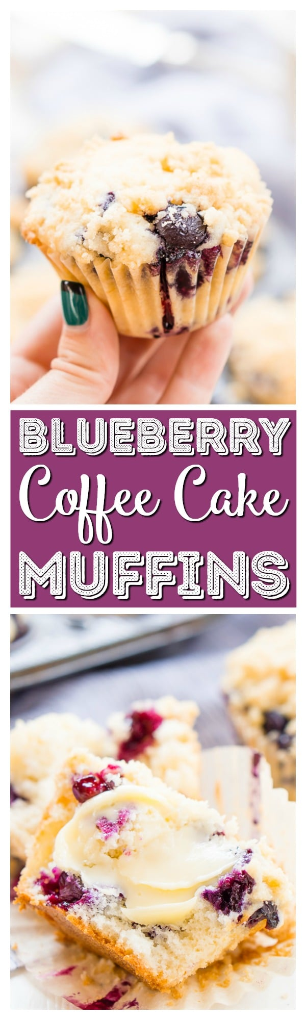 Blueberry Muffins are made with tangy buttermilk and delicious blueberries for a yummy breakfast muffin topped with a sugary butter crumble. via @sugarandsoulco
