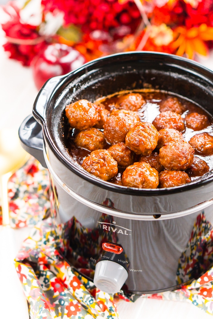 Crock Pot Apple Cocktail Meatballs