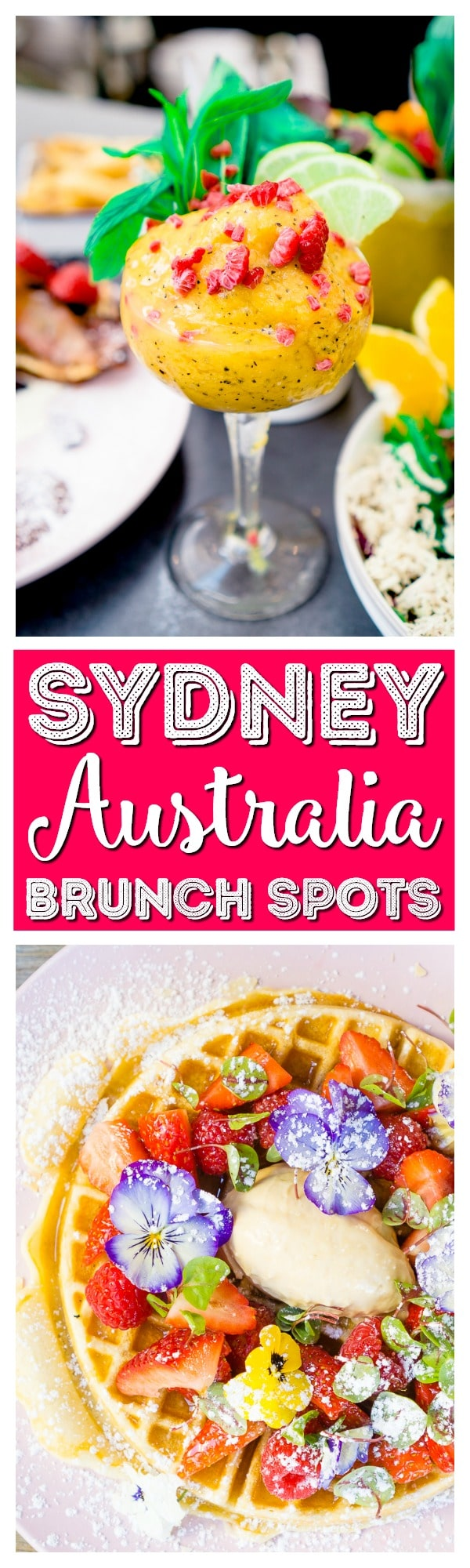 Sydney Brunch is an absolute must! The city is filled with amazing spots to enjoy the delicious meal, here are 8 of my favorites! via @sugarandsoulco