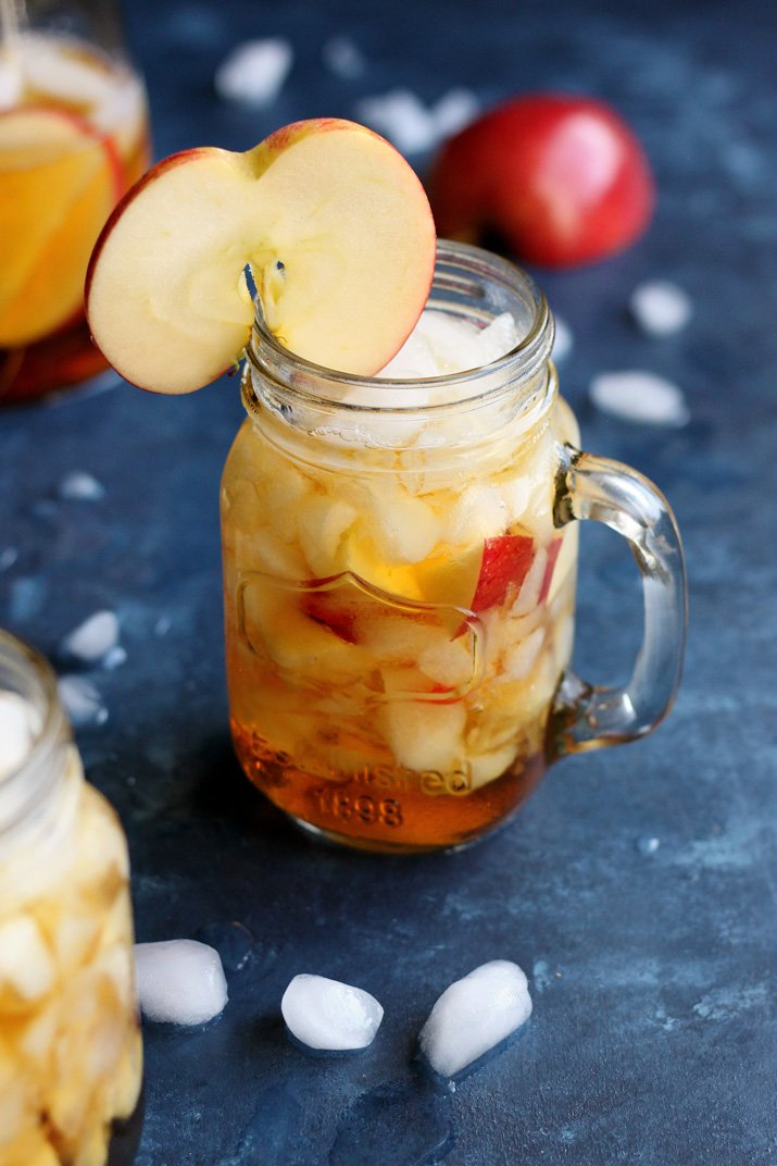 This Apple Pimm's Cup takes a twist on a popular summer cocktail using Fall flavor. This recipe can be easily scaled up to make a few pitchers, enough to serve a whole group of thirsty dinner guests.
