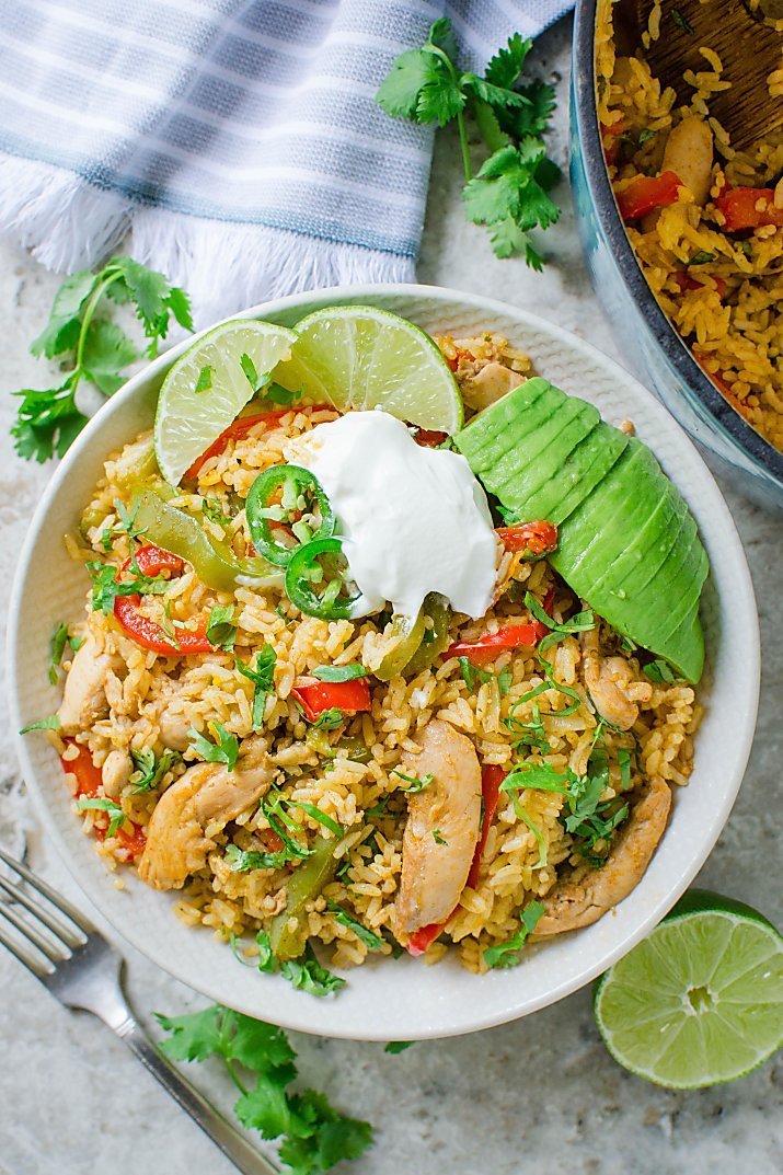 This chicken fajita rice is packed with authentic Mexican flavors. Super easy & delicious Mexican fried rice for lunch or dinner.