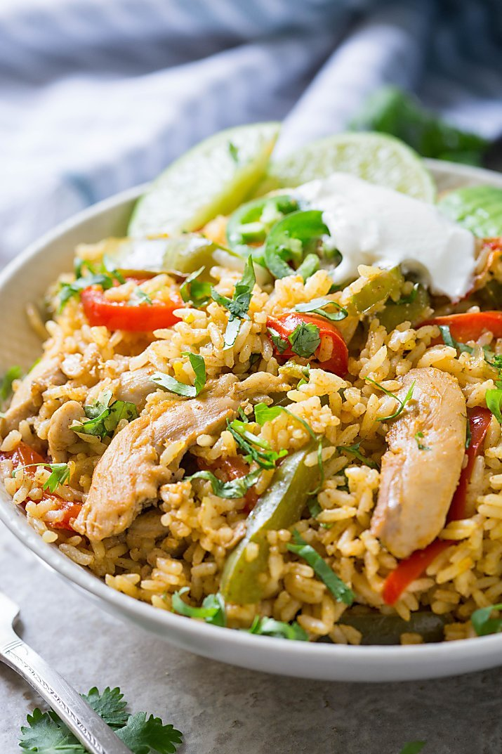 Chicken Fajita Rice Dinner Recipe Sugar Soul